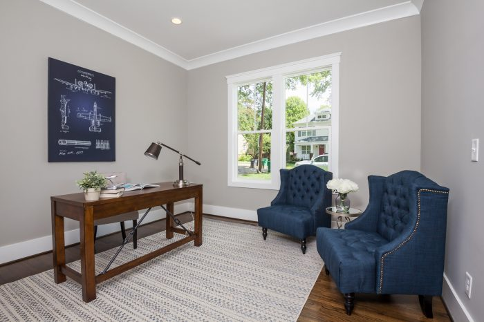 Office home staging Charlotte