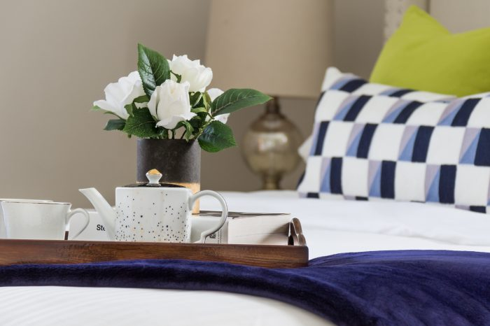 Master bedroom Staging by TNT